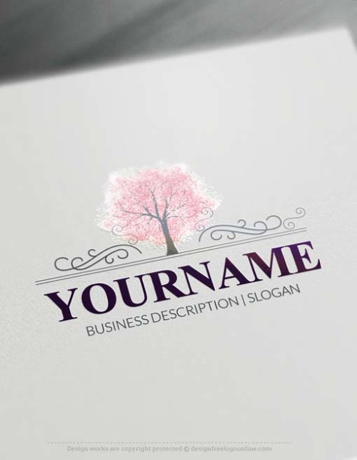 online forest tree logo free logo maker