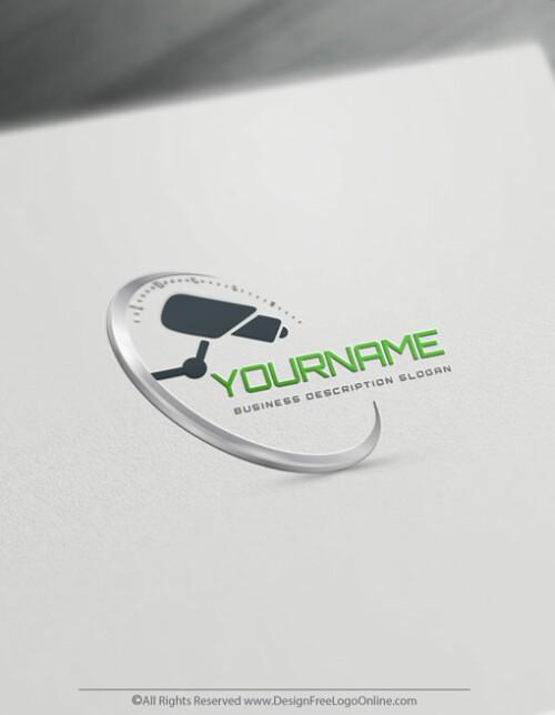 Silver Security Camera logo
