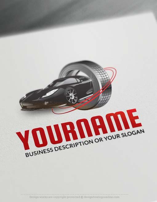 Online Car Tire Logo Design - Make a Logo with our Free Logo Maker