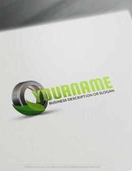 Online Eco Car Tire Logo Design - Make a Logo with our Free Logo Creator