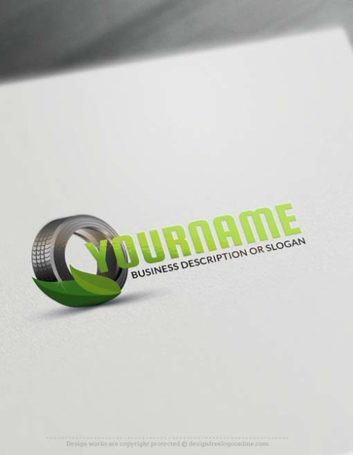 Online Eco Car Tire Logo Design - Make a Logo with our Free Logo Creator