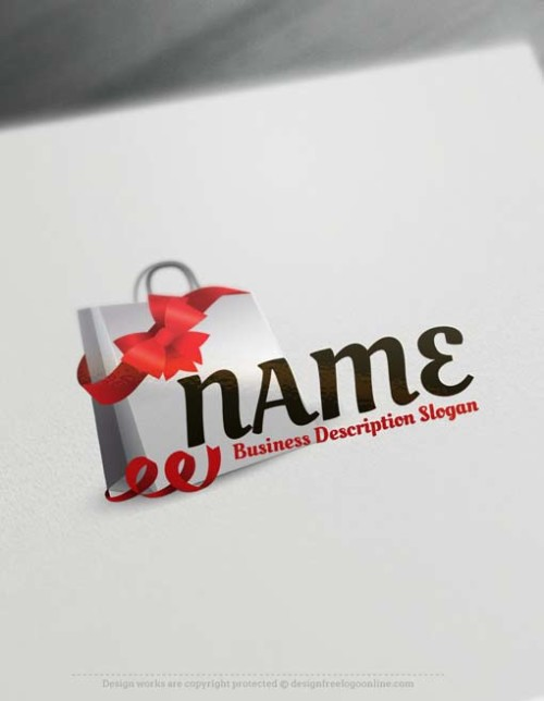 Make online Shopping bag Logo Maker