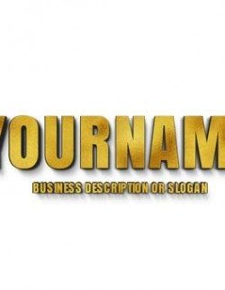 Metallic Gold 3D Type solution. Showcase your 2D company name as a 3D Letters Logo Design
