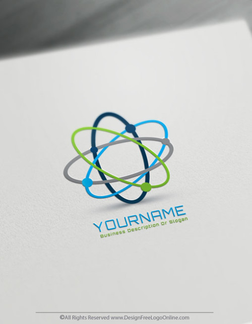 Design a Science Logo with Synergy Atom Logo Template