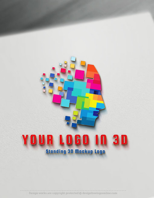 Standing 3D Mockup Logo - Give your logo a unique strait 3D effect