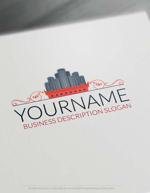 Ready Made Logo Design City Real Estate Logo Maker