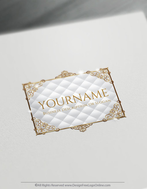 Free Vintage Logo Maker - Decorated Gold Frame Logo Design