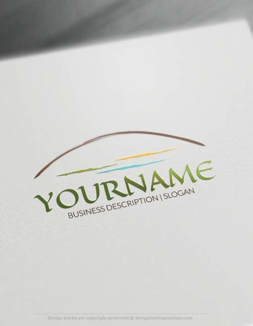 Make your own Arch Landscape Logo. Build a brand without registration.