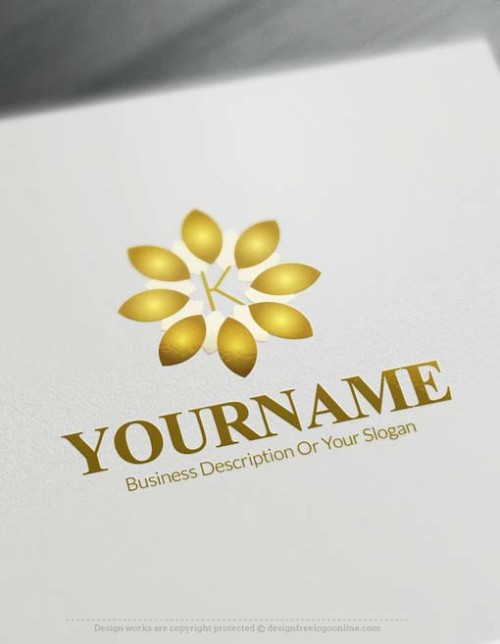 Make your own Alphabet Flower Logo with our online free Logo Maker