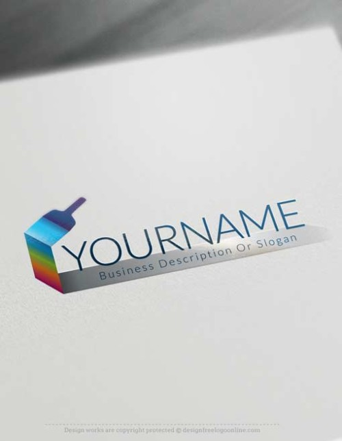 Paint Brush Logo Design free Logo Maker