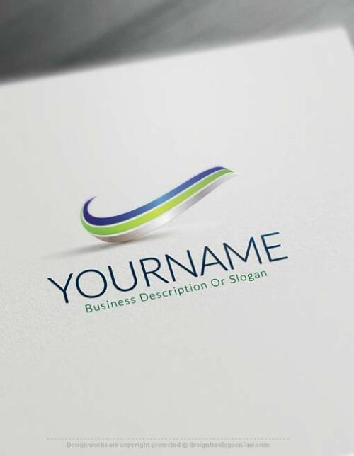 3D Wave Logo Design online- free 3D Logo Maker.
