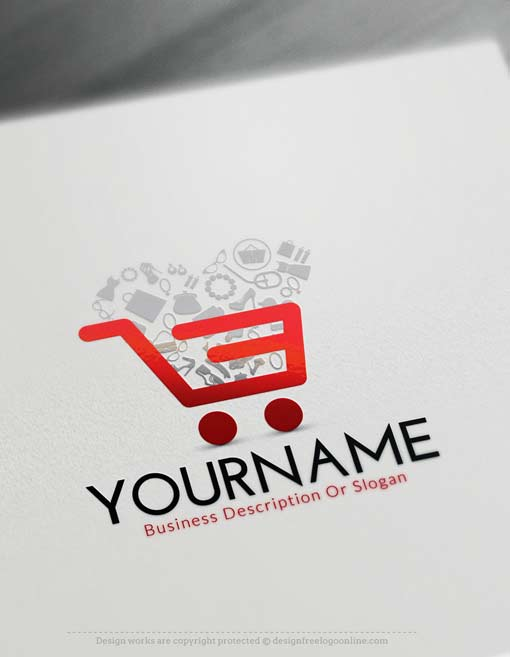online free logo maker e commerce cart logo maker