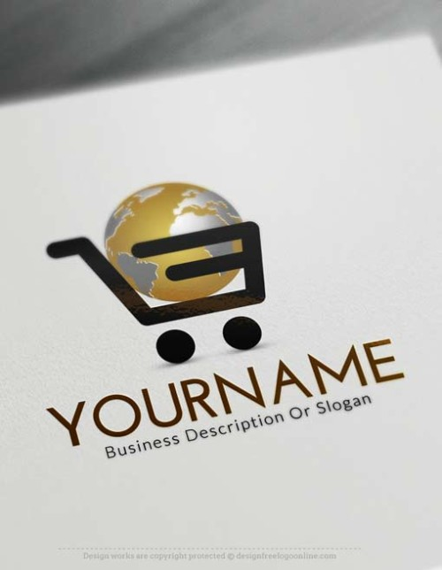 Make your own International Shopping Cart logo maker with our free Logo creator. Use our E-commerce logo maker to design your logo online