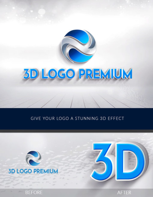 3D Logo Premium- Give your logo an amazing 3D effect