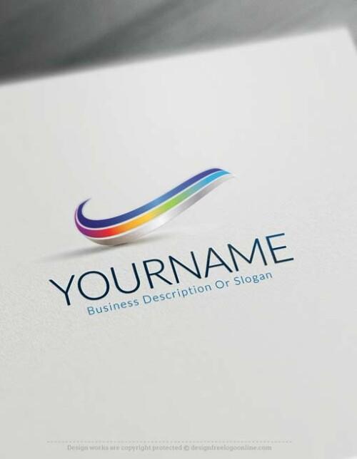 online 3D Wave Logo Design - free 3d Logo Maker.