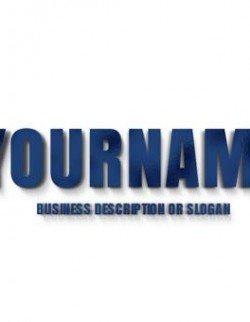 Showcase your 2D company name as a Metallic Blue 3D Type, Blue 3D Letters Logo maker