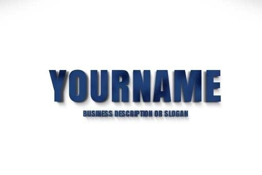 Showcase your 2D company name as a Metallic Blue 3D Type, Blue 3D Letters Logo maker