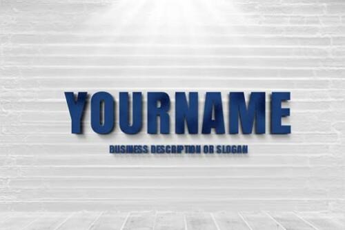 Showcase your 2D company name as a Metallic Blue 3D Type, Blue 3D Letters Logo maker . Blue-3D-letters