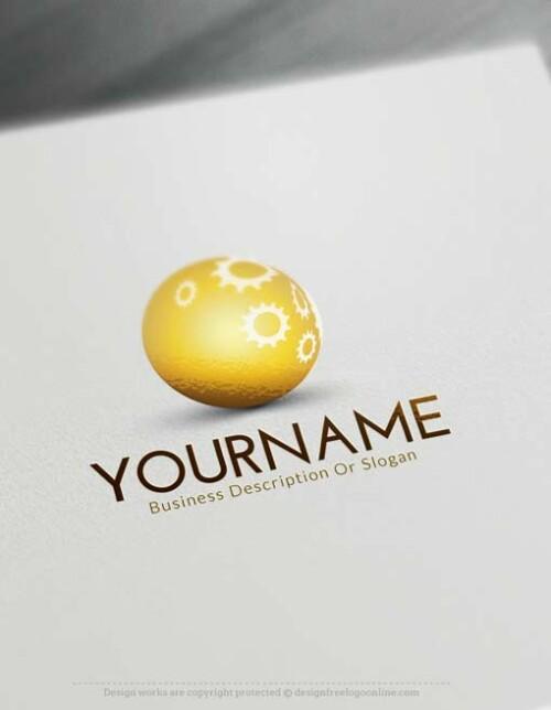 Free 3D Logo Maker - Online 3D industrial Logo Design