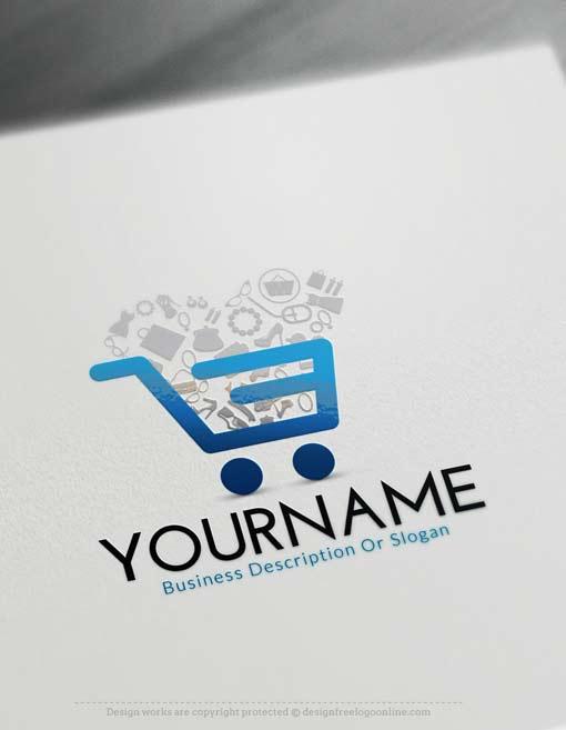 Online Free Logo Maker - E-commerce cart logo maker