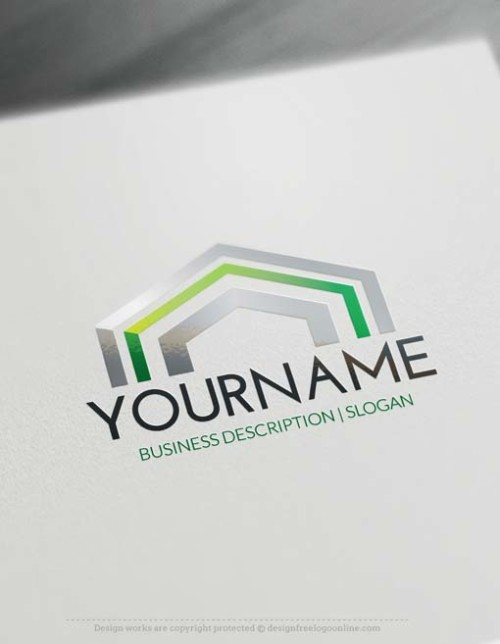 Online Rooftop Logo Design with our free Logo