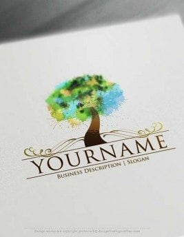 Make your own Colorful Tree Logo Design with our online Logo Maker.
