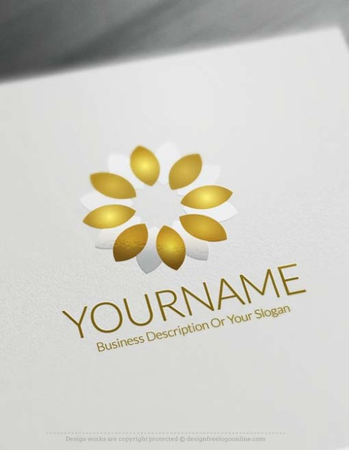 Make your own Online Flower Logo Design with our free Logo Maker. Use our free Logo creator to change your flowers logo in real time.