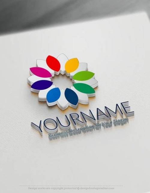 Killer Logo Design Make your own Online Flower Logo Design