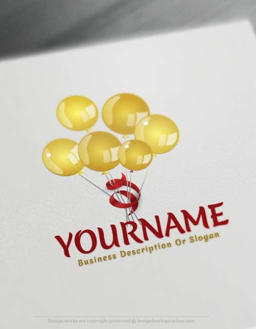Make your own Colorful Balloons Logo Design with our free Logo maker
