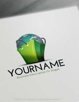 Worldwide e-commerce logo design