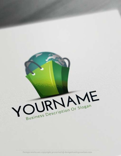 Worldwide e-commerce logo design