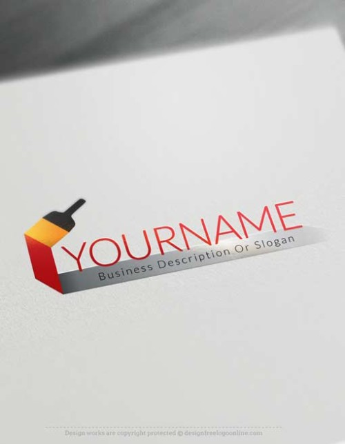 Make your own Paint Brush Logo Design online with our free Logo Maker