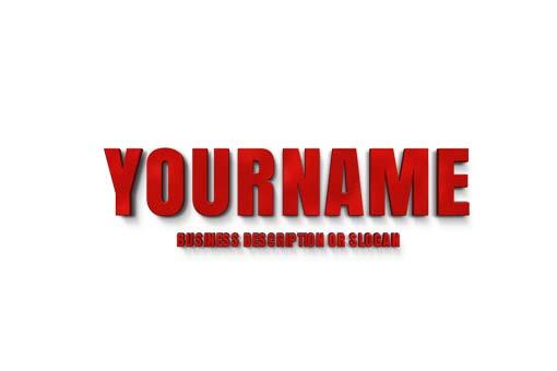 red-3D-letters-logo-maker