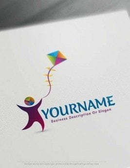 Make your own Online Kids kite logo design with our free Logo Maker. Use our Free Logo Maker Software and change your logo online in real time