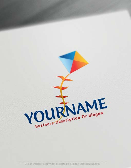 Design your own kite logo Online with our free Logo Maker. Use our Free Logo Maker Software and change your kids logo online in real time