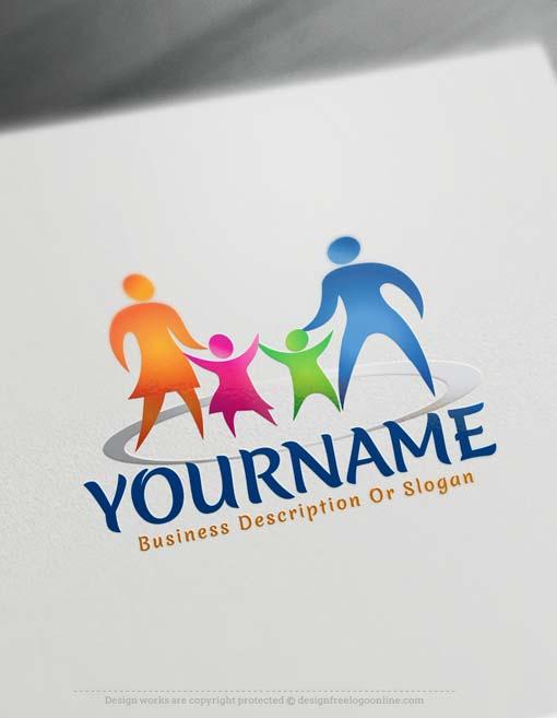 free family logo maker online parents logo design