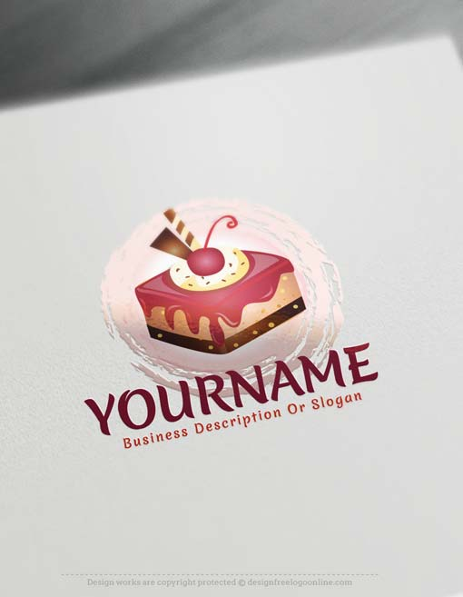 Cake Decorating Logo Designs : Free Logo Maker - Online Sweet Cupcake logo design
