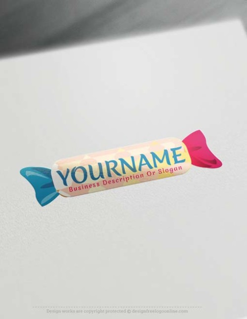 Sweet Candy logo design with our free Logo Maker.