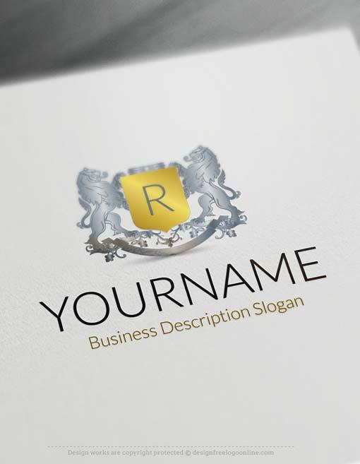 Create a logo Free - Online Design Lions Logo Template