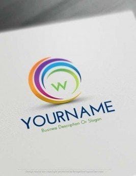 Create Online Swirl Logos with our logo design software