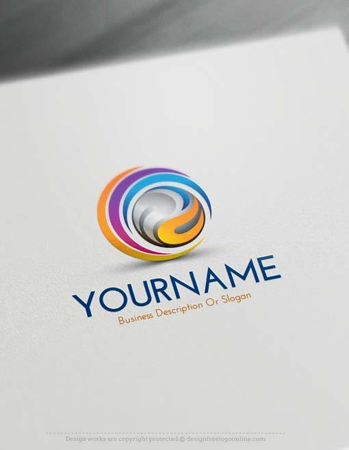 Online free logo creator create online swirl logos for 3d creator online