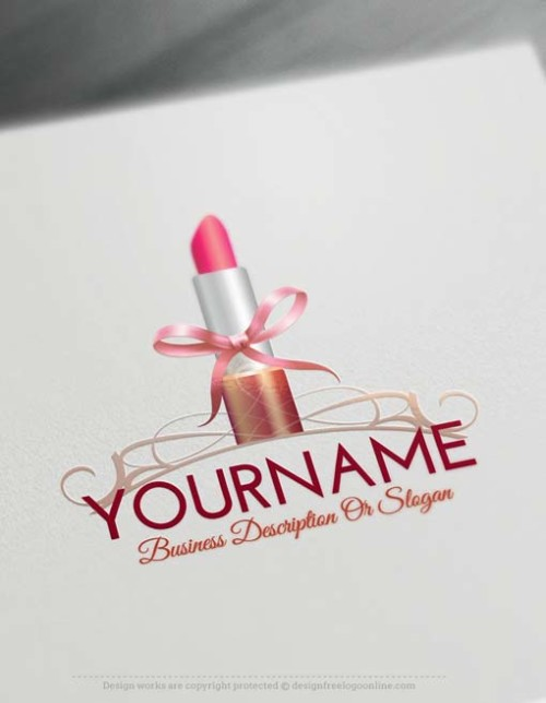Online Create Lipstick Logo Design with our Free Logo Creator