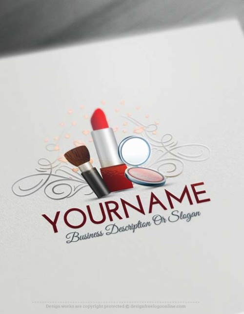 Create Makeup artist logo design using the Free Logo Maker