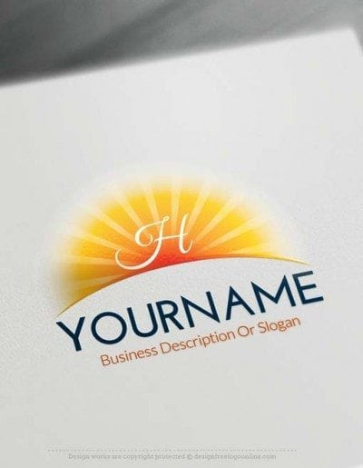 Create Online Sun Logo Design with our logo design software