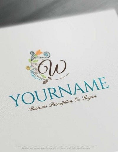 Alphabet Flowers Letters Logo Design online
