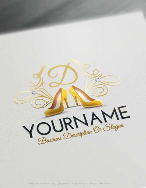 Create Women's Shoes Store logo with our Free Logo Creator