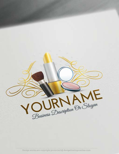 Create Makeup artist logo design using the Free Logo Maker