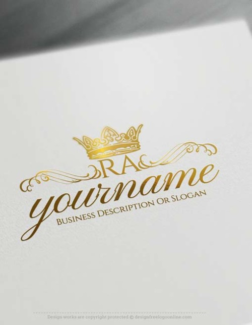 Best Alphabets Logo Create Vintage Crown logo design with the Free Logo Maker