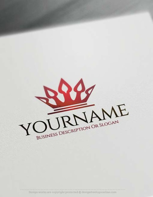 Create Simple Royalty Crown logo design with the best Free Logo Maker