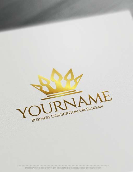 Online Royalty Crown Logo Design Free Maker
